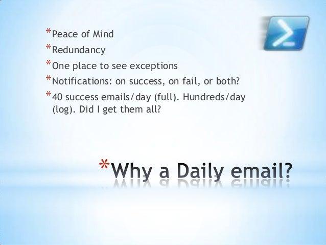 Automating sql server daily health checks Slide 2