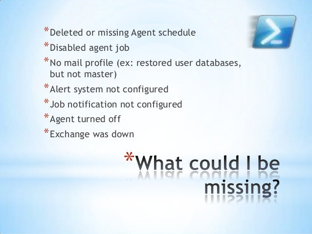 Automating sql server daily health checks Slide 3
