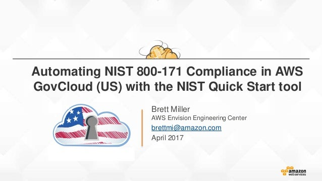 Automating nist 800 171 compliance in AWS Govcloud (US)