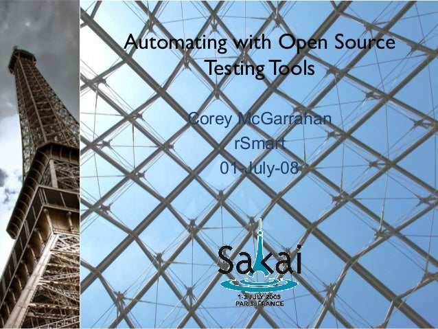 Automating testing with open source tools (1)