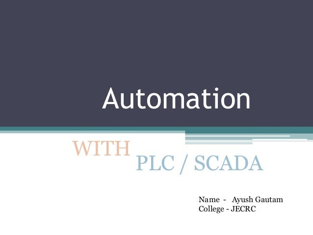 what is plc scada pdf