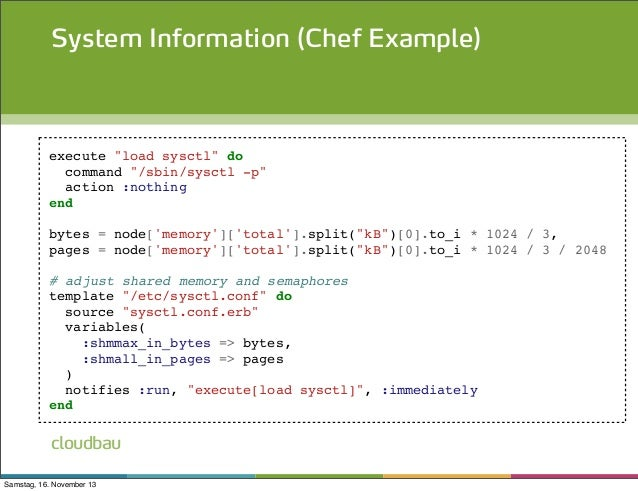Infrastructure as code with chef puppet for Chef template variables