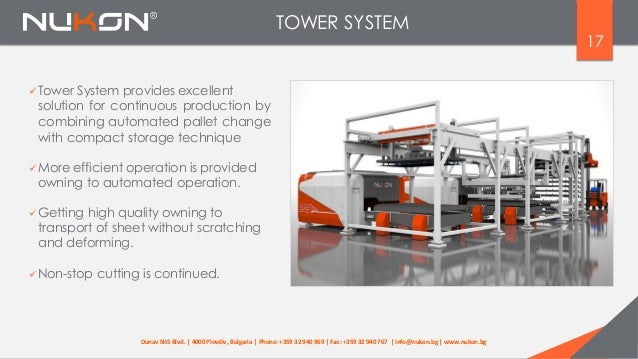 17 Tower System provides excellent solution for continuous production by combining automated pallet change with compact s...