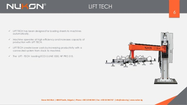 LIFT TECH 6  LIFT TECH has been designed for loading sheets to machines automatically.  Machine operates at high efficie...