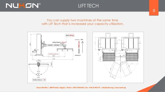 LIFT TECH 8 You can supply two machines at the same time with Lift Tech that is increased your capacity utilization. Dunav...