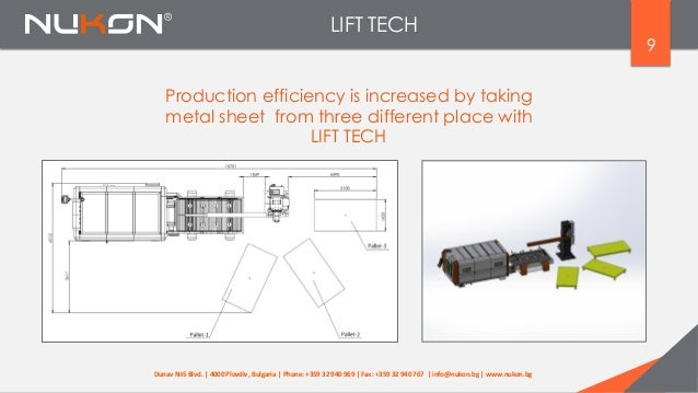 LIFT TECH 9 Production efficiency is increased by taking metal sheet from three different place with LIFT TECH Dunav №5 Bl...