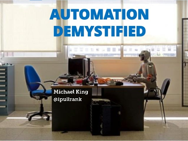 AUTOMATION DEMYSTIFIED