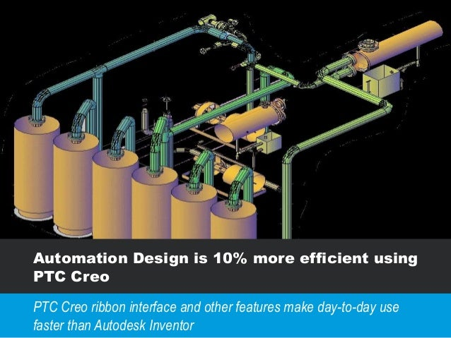 Automation Design is 10% more efficient using PTC Creo PTC Creo ribbon interface and other features make day-to-day use fa...