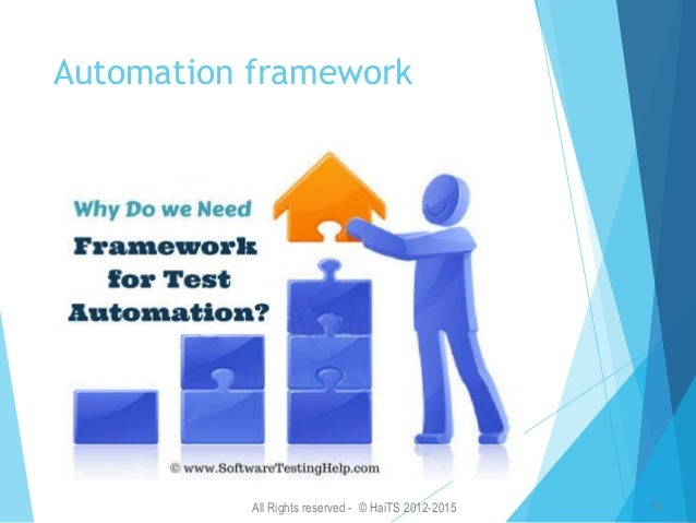 All Rights reserved - © HaiTS 2012-2015 15 Test Automation Framework Hybrid