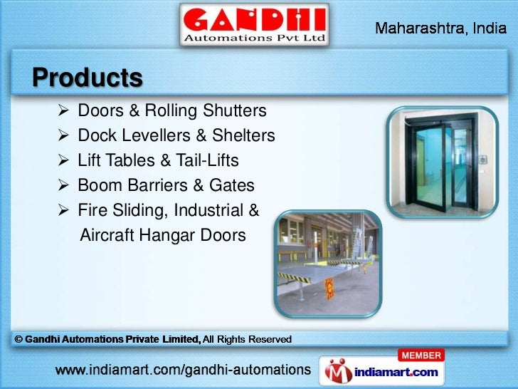 Automation loading bay equipments by gandhi automations for Sliding gate motor price in india