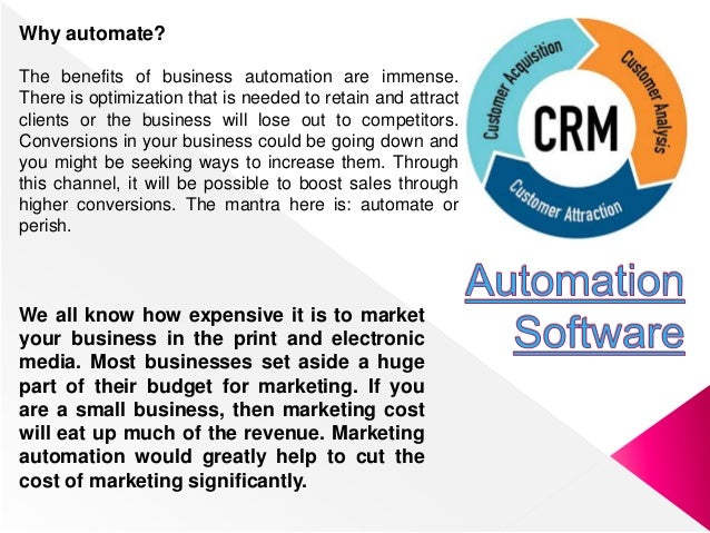 Why automate? The benefits of business automation are immense. There is optimization that is needed to retain and attract ...
