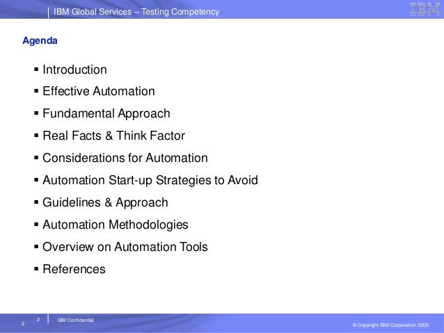 Automation testing strategy, approach & planning