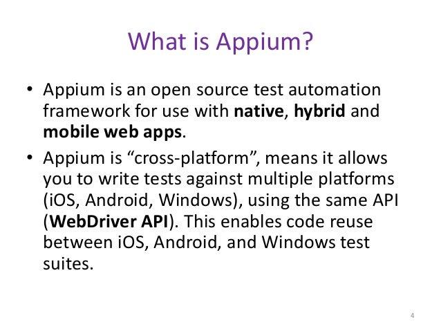 Automation testing on ios platform using appium