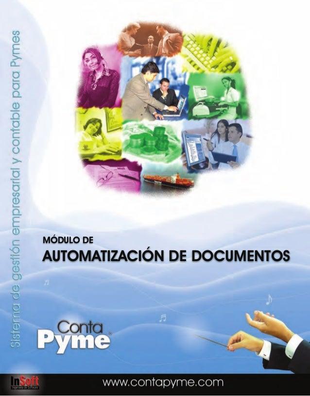 MÓDULO DEAUTOMATIZACIÓN DE DOCUMENTOS