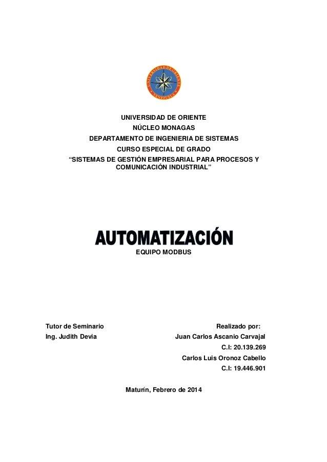 Automatizacion modbus