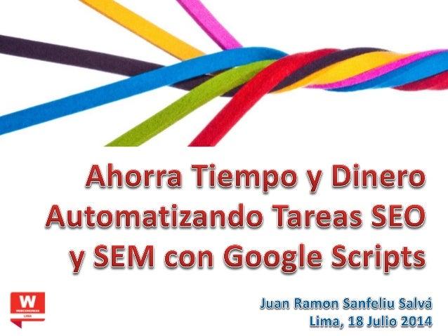 Juan Ramon Sanfeliu Salvá jrsanfeliu.com @jrsanfeliu