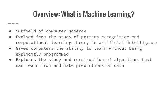 Automatic Machine Learning, AutoML Slide 2