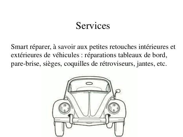 ServicesSmart réparer, à savoir aux petites retouches intérieures etextérieures de véhicules : réparations tableaux de bor...