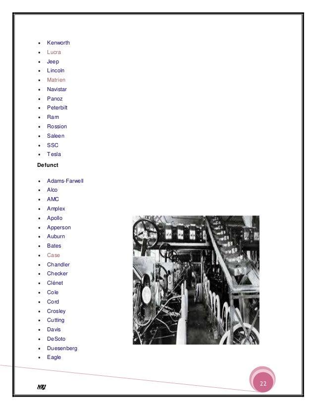 Automobile Company In The World