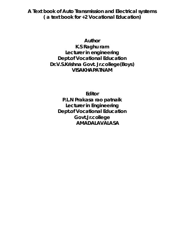 Automobile engineering e book