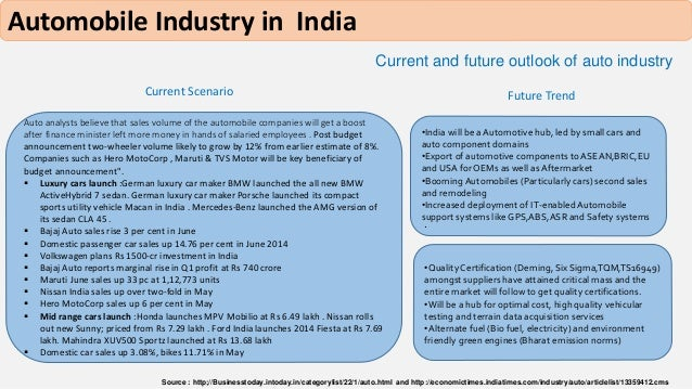 """the indian automobile industry overview Kpmg's global automotive executive survey 2017 2017 kpmg international cooperative (""""kpmg international"""") kpmg international provides no client services and is a swiss entity with which the independent member firms of the kpmg network are affiliated."""
