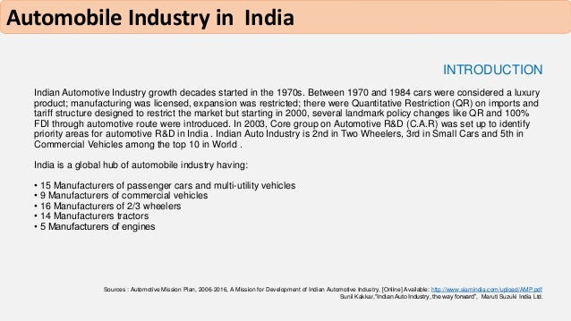 auto industry research paper