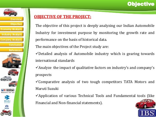Automobile industry analysis jitendra shekhar for Tata motors financial statements