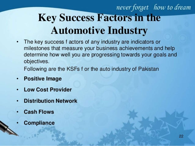 How to Identify the Key Success Factors of the Industry Structure in a Business Plan