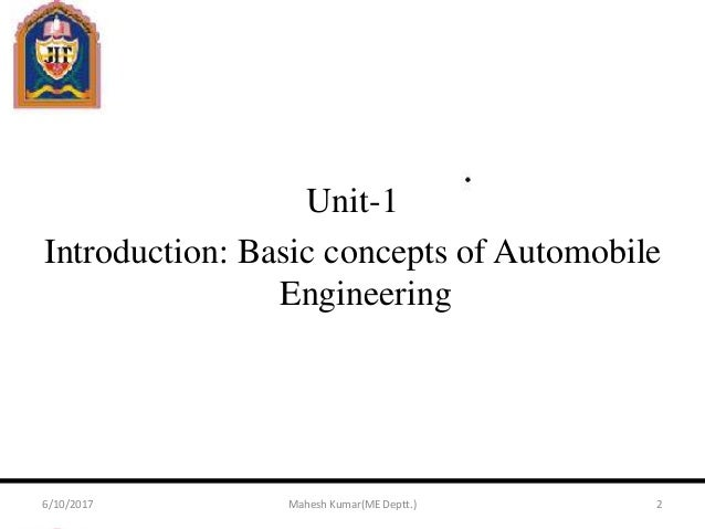 Automobile Engineering Ppt