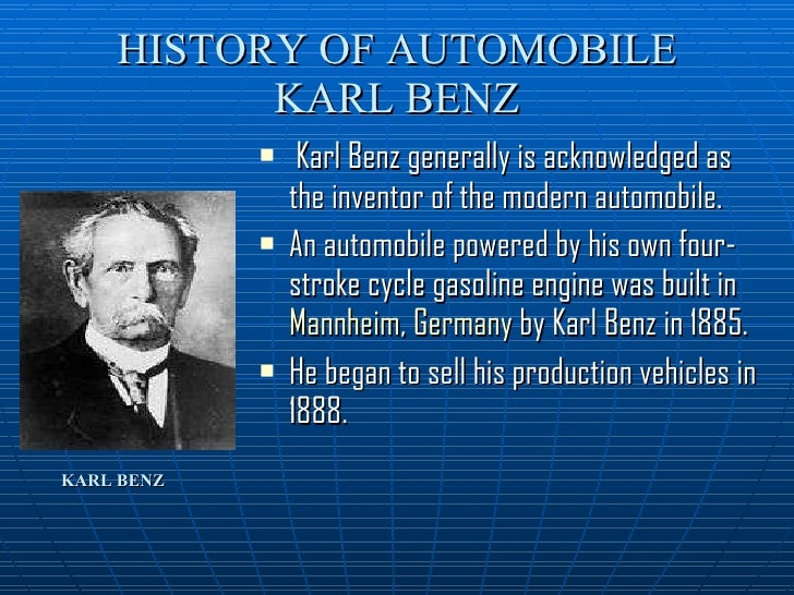 Karl Benz: Automobiles