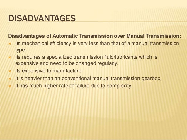 automobile transmission gear box rh slideshare net disadvantages of manual transmission Dual-Clutch Transmission