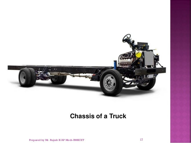 Chassis of a Truck Prepared by Mr. Rajesh K/AP Mech-RMKCET 17