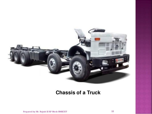 Chassis of a Truck Prepared by Mr. Rajesh K/AP Mech-RMKCET 18