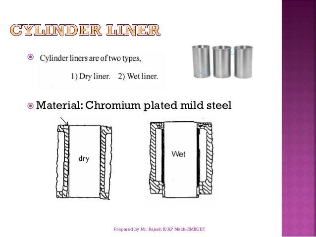   Material: Chromium plated mild steel Prepared by Mr. Rajesh K/AP Mech-RMKCET 77
