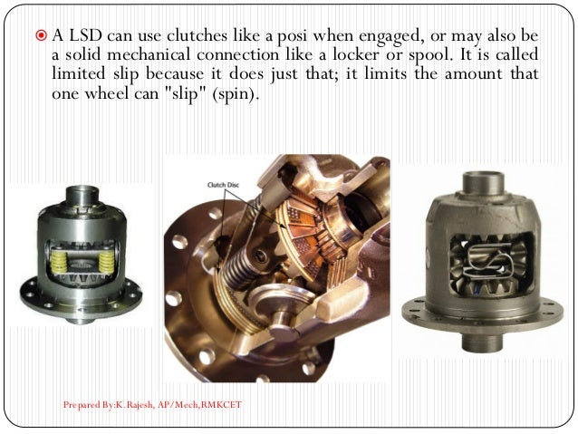  A LSD can use clutches like a posi when engaged, or may also be a solid mechanical connection like a locker or spool. It...
