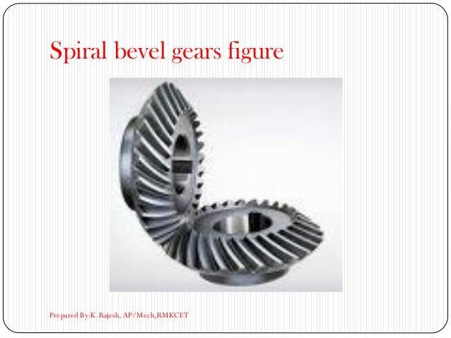 Spiral bevel gears figure Prepared By:K.Rajesh, AP/Mech,RMKCET