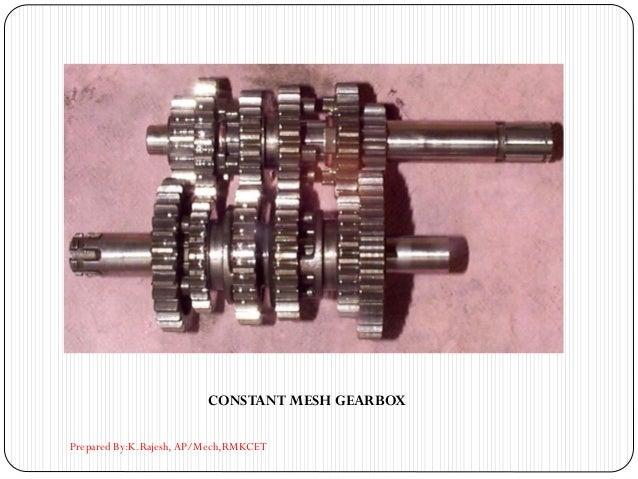 CONSTANT MESH GEARBOX Prepared By:K.Rajesh, AP/Mech,RMKCET