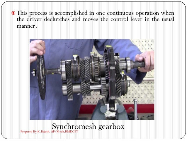  This process is accomplished in one continuous operation when the driver declutches and moves the control lever in the u...