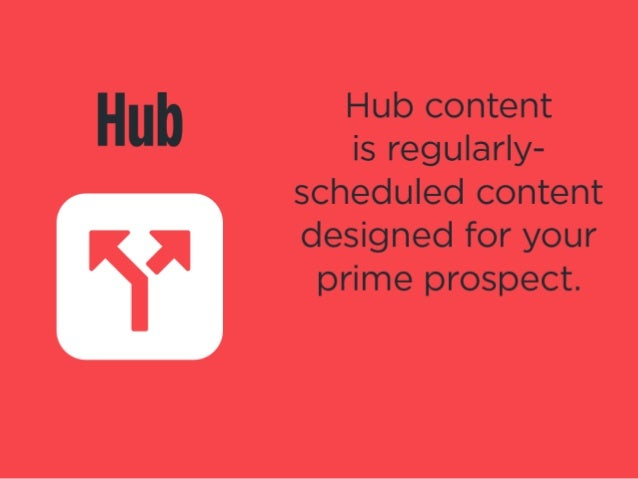 Hub content  is regularly- scheduled content  fix designed for your  prime prospect.