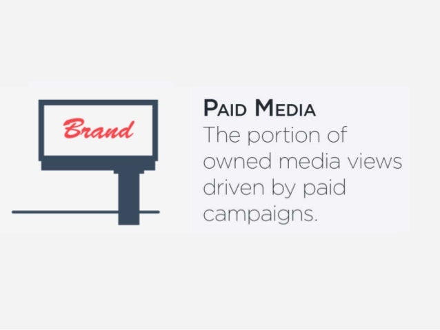 PAID MEDIA  The portion of owned media views driven by paid campaigns.
