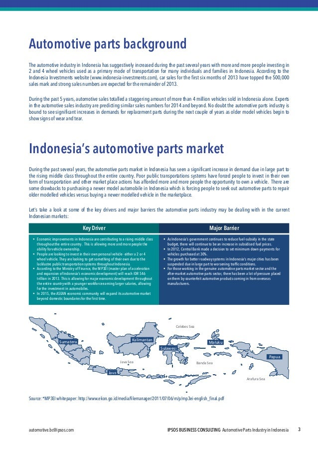 automotive.bc@ipsos.com  IPSOS BUSINESS CONSULTING Automotive Parts Industry in Indonesia  3  Automotive parts background ...