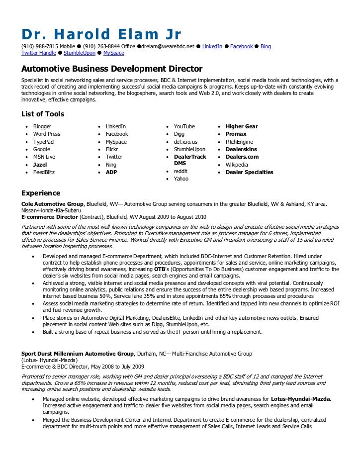 Automotive Resume