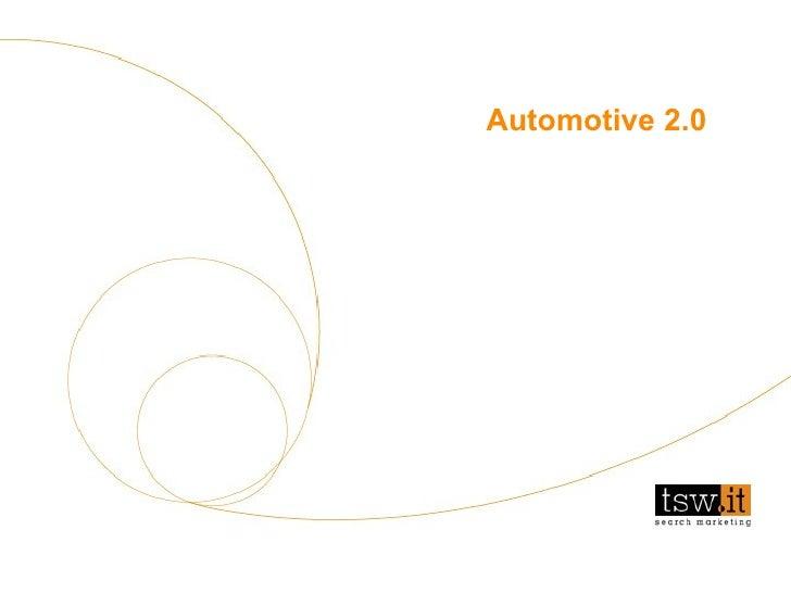 Analisi visibilità  - aprile 2005 Automotive 2.0