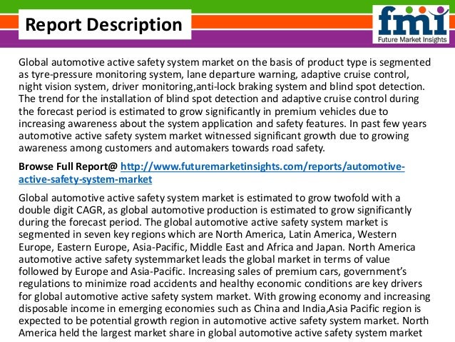 Recent Trends In Automotive Active Safety System Market