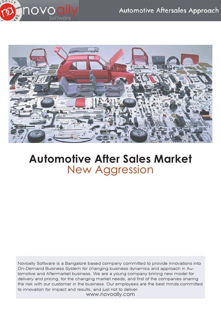 Automotive After Sales Market           New Aggression     Novoally Software is a Bangalore based company committed to pro...