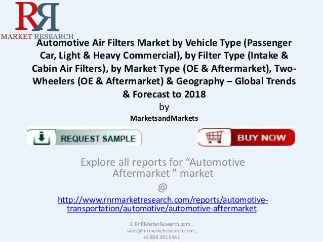 Automotive Air Filters Market by Vehicle Type (Passenger Car, Light & Heavy Commercial), by Filter Type (Intake & Cabin Ai...