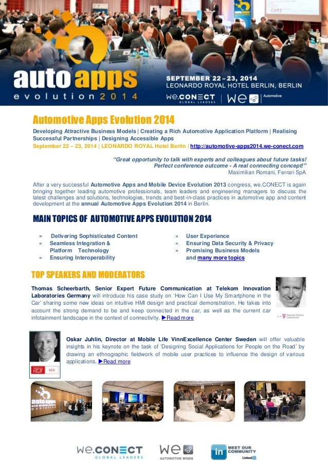 Apps Evolution 2014: Main Topics, Top speakers, Interactive Sessions.