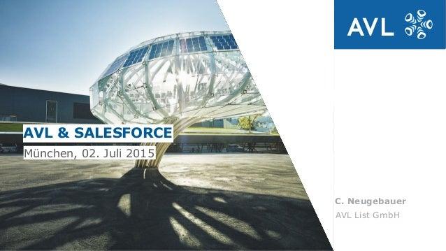 C. Neugebauer Daniel Baumann, IT AVL List GmbH AVL & SALESFORCE München, 02. Juli 2015