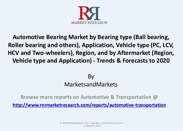 Automotive Bearing Market by Bearing type (Ball bearing, Roller bearing and others), Application, Vehicle type (PC, LCV, H...
