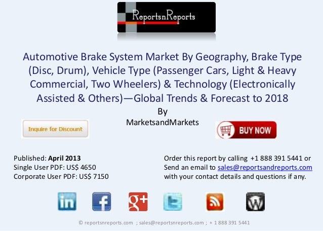 2018 Automotive Brake System Market Worldwide Forecast with